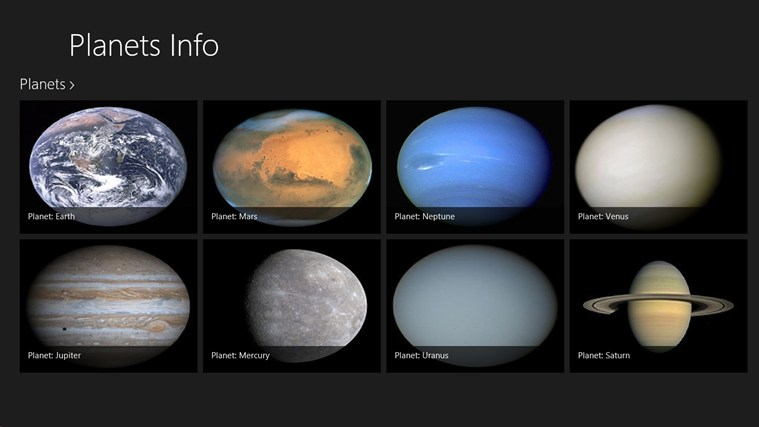 Information About the Eight Planets - Pics about space