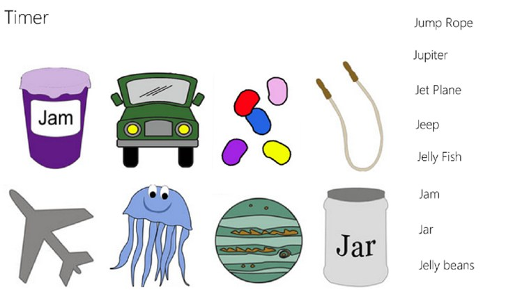 Alphabet Matching J