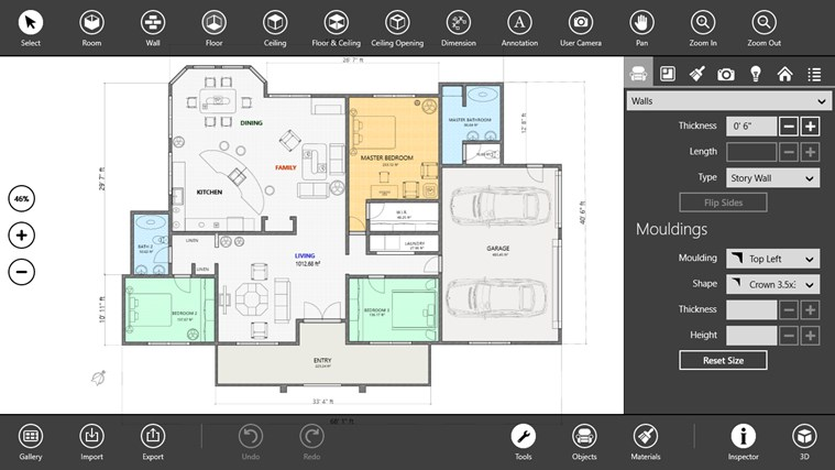Live interior 3d pro app for windows in the windows store - House design app free ...