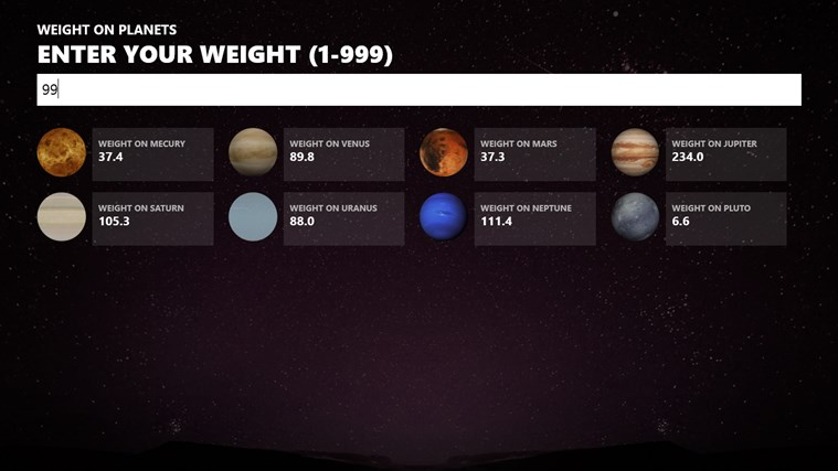 weight on other planets nasa - photo #48