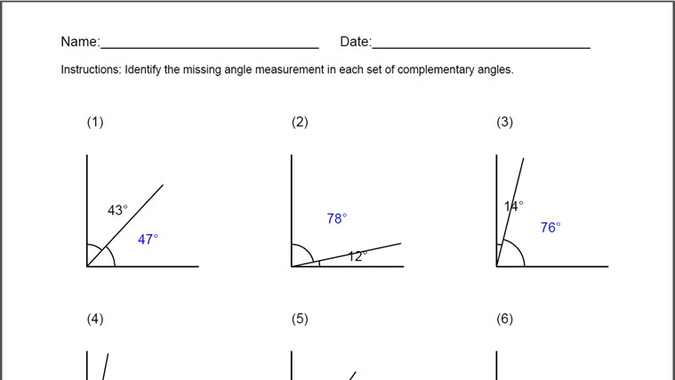 Printables Complementary Supplementary Angles Worksheet complementary angles worksheet for windows 8 app free download on languages