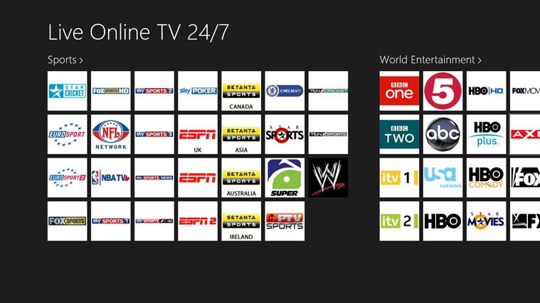 Live Online TV 24\/7 for Windows 10 free download on Windows