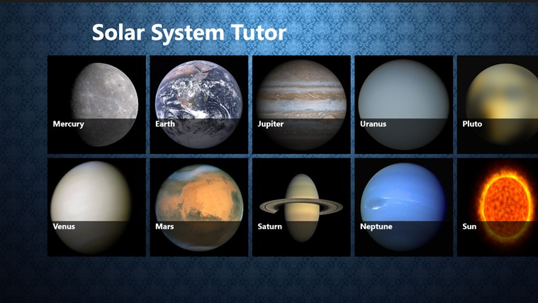 Download page of Planets Tutor for Windows 10/8 on topwindata