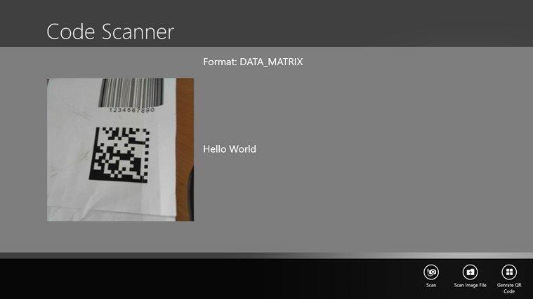 QR Code and Barcode Reader for Surface Pro Windows 8