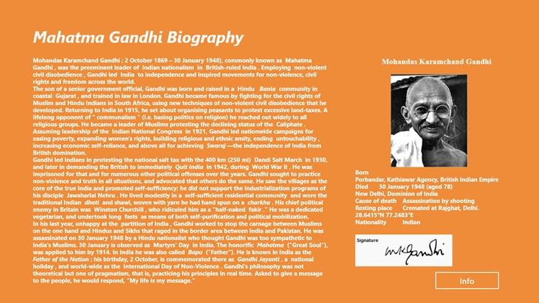 Mahatma gandhi in malayalam