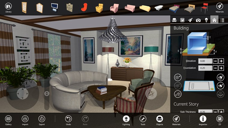 live interior 3d pro app for windows in the windows store. Black Bedroom Furniture Sets. Home Design Ideas