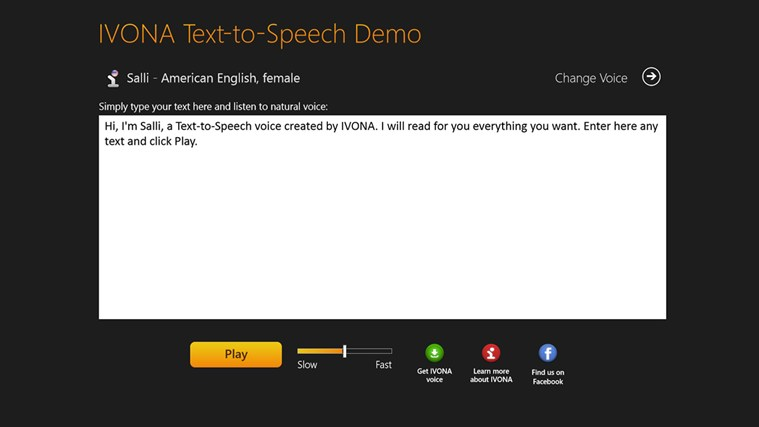 IVONA Text-to-Speech Demo free download for Windows 8 | FreeNew