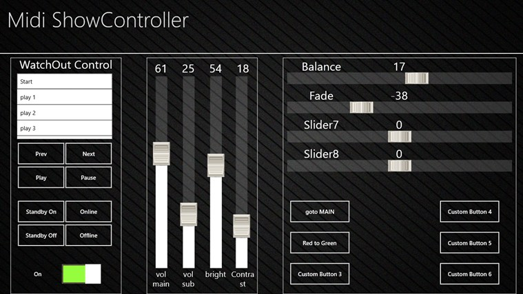 midi showcontroller app for windows in the windows store. Black Bedroom Furniture Sets. Home Design Ideas