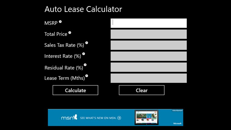Car Lease Hire Purchase Calculator