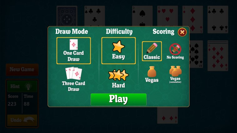simple solitaire app for windows in the windows store