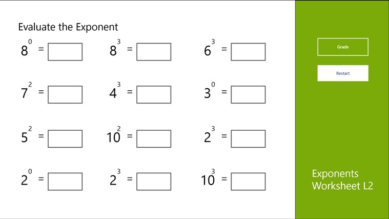 Printables Free Exponents Worksheets unit 2 exponents lessons tes teach worksheet l2 app for windows in the store