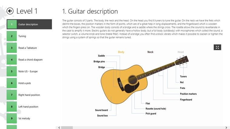 guitar lessons beginners 1 app for windows in the windows store. Black Bedroom Furniture Sets. Home Design Ideas