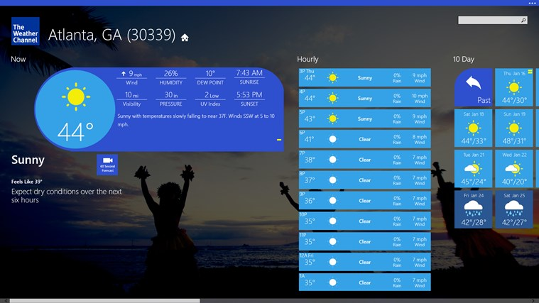 Download The Weather Channel Windows Marketplace softwares